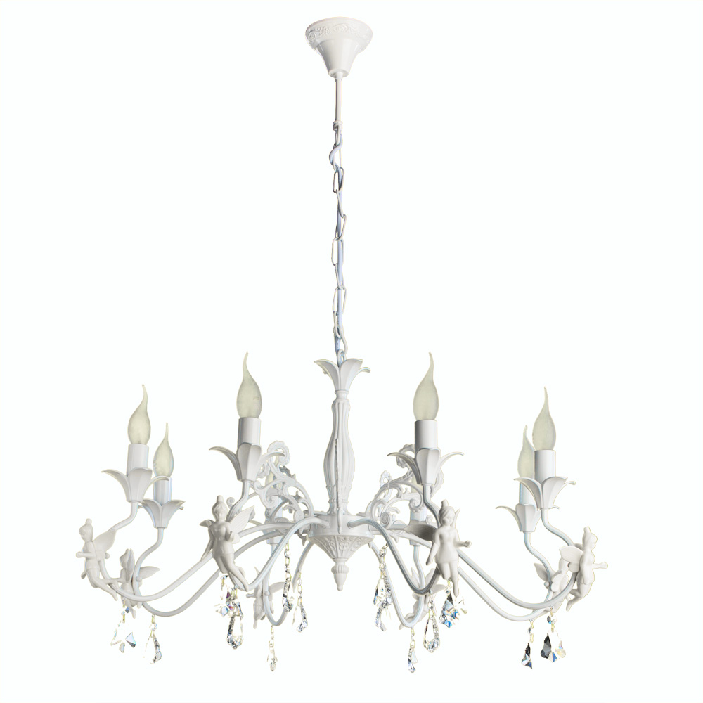 Люстра Arte Lamp Sonia Angelina A5349LM-8WH фото